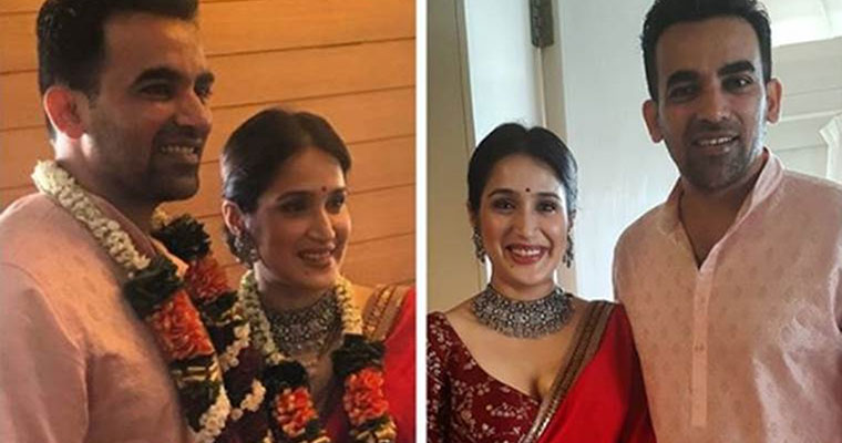 Zaheer Khan ties knot with Sagarika Ghatge