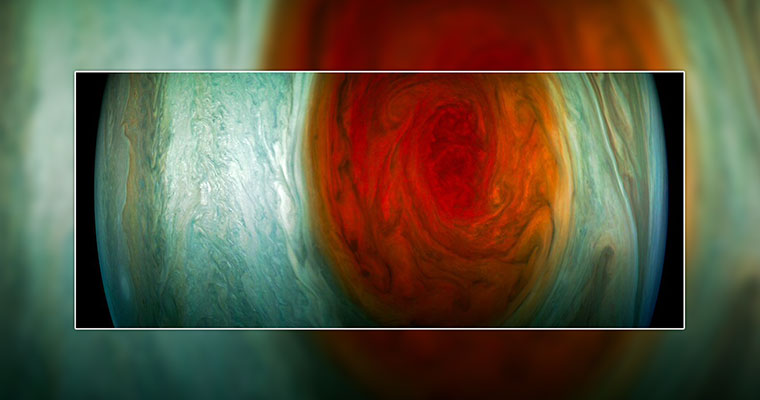 NASA's Juno Mission Completes Close Flyby Over Jupiter's Great Red Spot