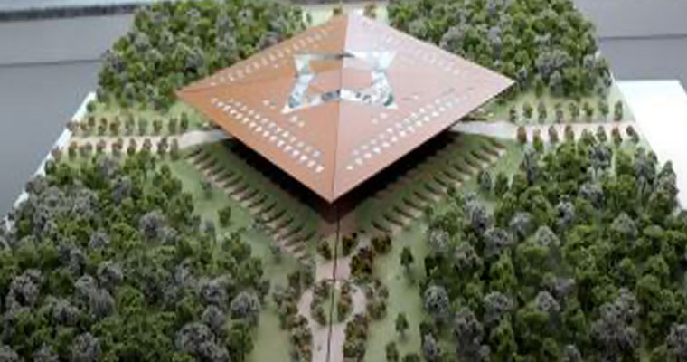 Amaravathi Assembly, inspired by Kohinoor, to resemble a diamond