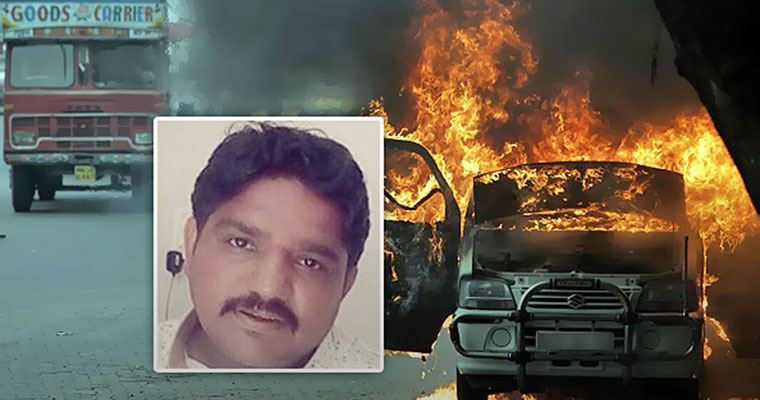 One dies as car coming towards Kochi catches fire