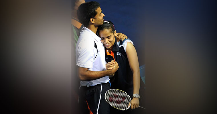 Sindhu's game reunited Saina and Coach