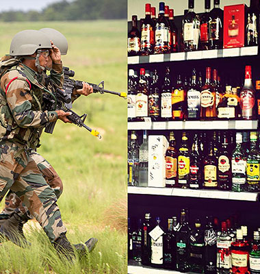 Now, only 'Army' can consume liquor in 'dry' Bihar