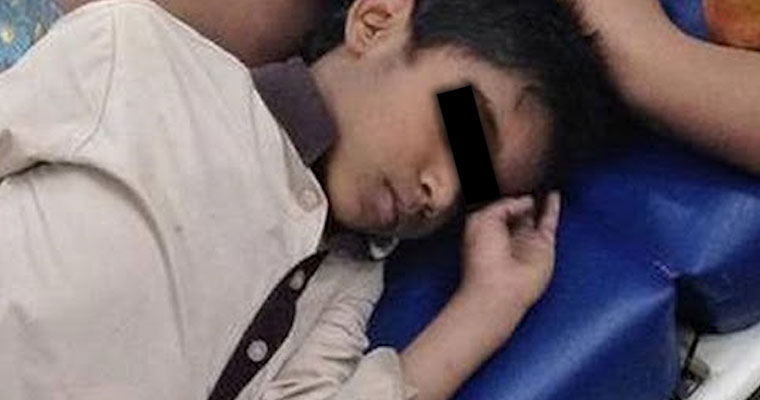 This five-year-old boy sleeping beside his dead mother will move you to tears