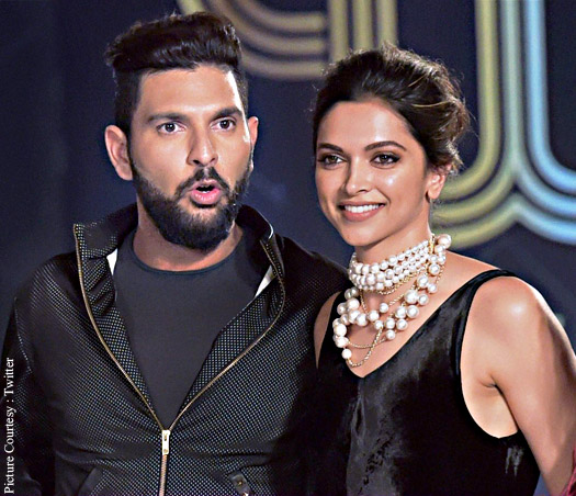 Image result for yuvraj deepika