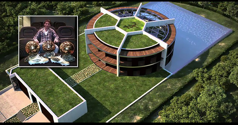 Do you know leo messi lives in a football shaped mansion - Casa de messi en castelldefels ...