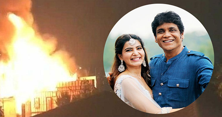 Watch: A huge fire broke out at Samantha's father-in-law Nagarjuna's studio. Here is how he reacted