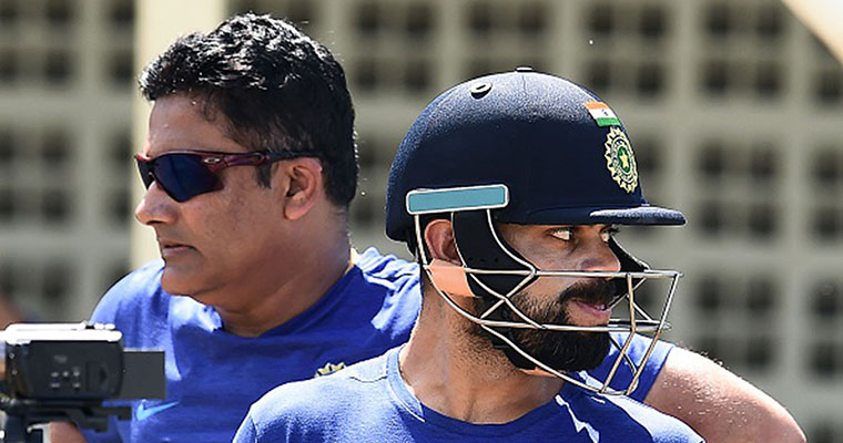 Is Dravid replacing Kumble as the coach of the Indian cricket team?