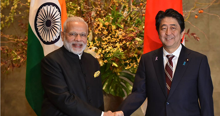 Glimpses of Modi welcoming Japanese Prime Minister Shinzo Abe in Ahmedabad