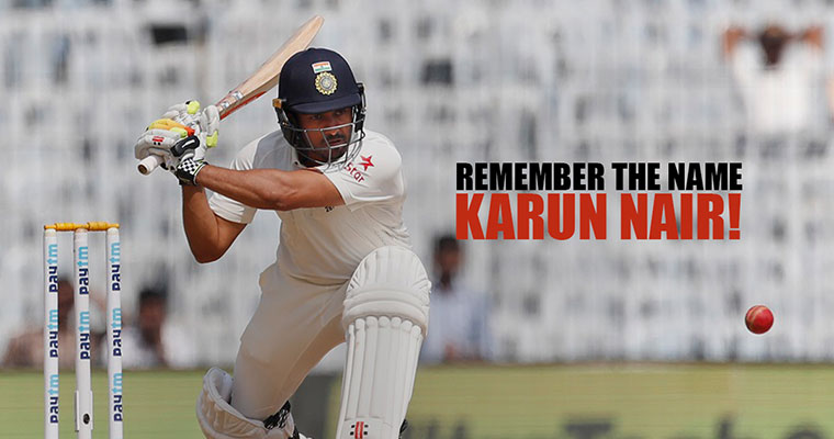 Watch: Karun Nair converts maiden Test ton into maiden Test double hundred