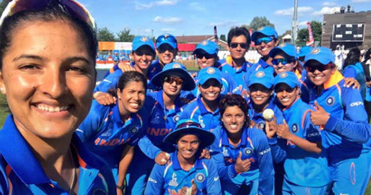 Image result for mithali raj with team