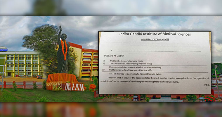 'Virgin means unmarried' on IGIMS marital declaration form, clarifies Bihar minister