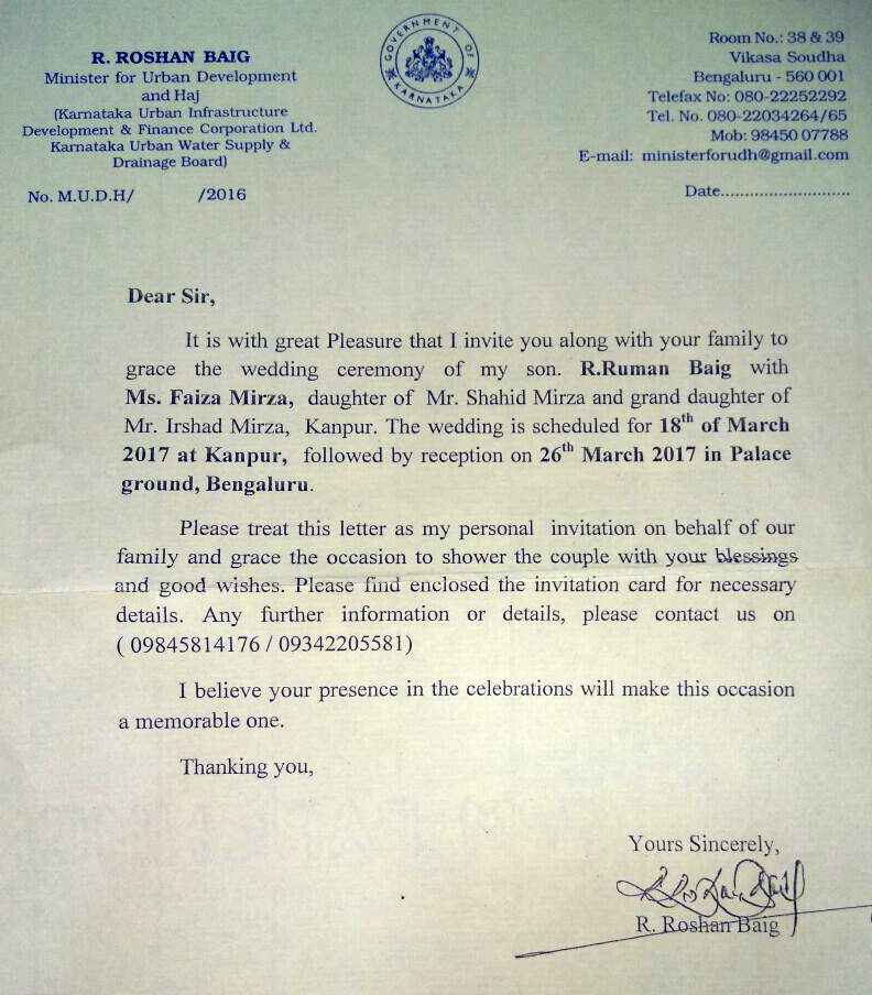 The Official Letterhead Should Be Used For Purposes But Minister Has Stooped To Such A Level That He Public Office His
