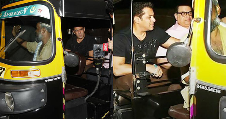 This is how much Salman Khan pays to the auto-driver after he takes an auto ride