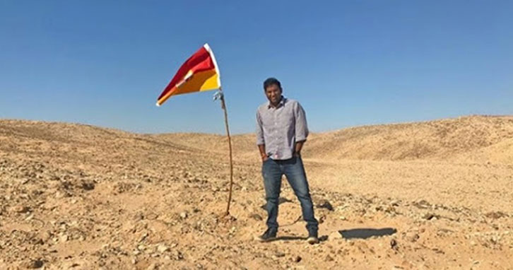 Indian man claims strip of land between Egypt and Sudan