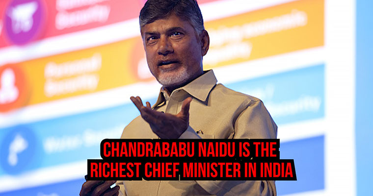 Chandrababu Naidu is the richest Chief Minister in India. Ironically his state requires money the most
