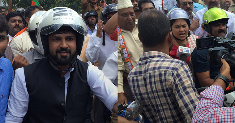 BJP, state government set for showdown over bike rally