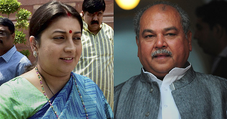 Smriti Irani gets I&B ministry, Tomar given urban development