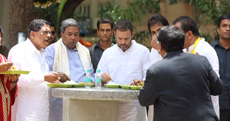 BJP Attacks Rahul Gandhi For Visiting Temple After 'Eating Chicken'