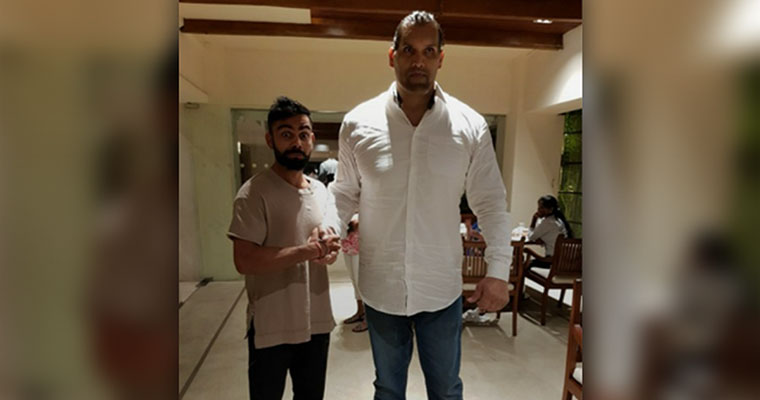 Virat Kohli posts pics with the Great Khali and Twitterati couldn't hold themselves back