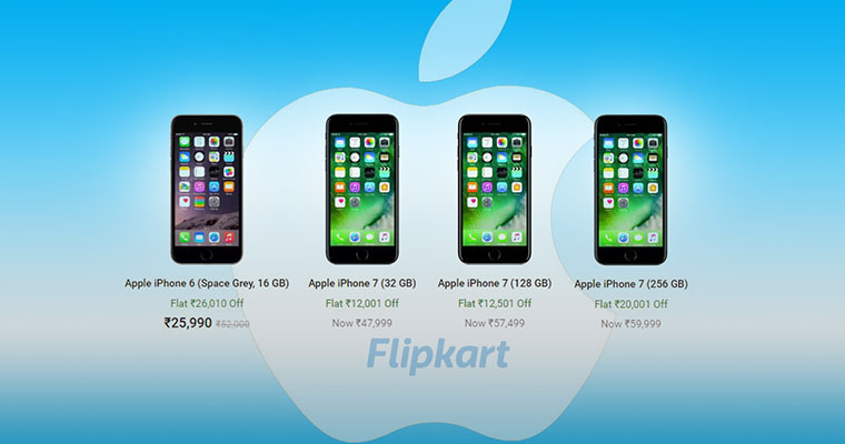 IPhone 7 is available for flat Rs 20000 discount on Flipkart