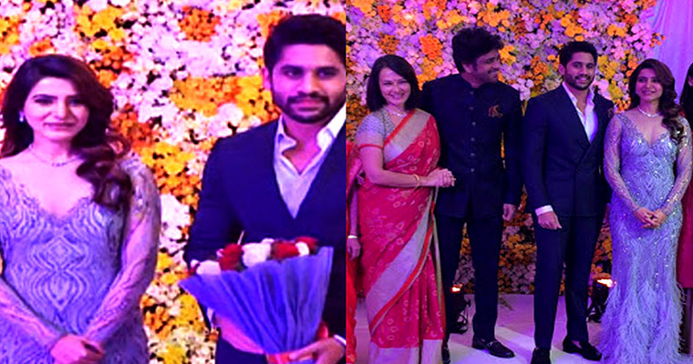 #ChaiSam Grand Reception Pics: Here Naga Chaitanya Samantha Reception Photos