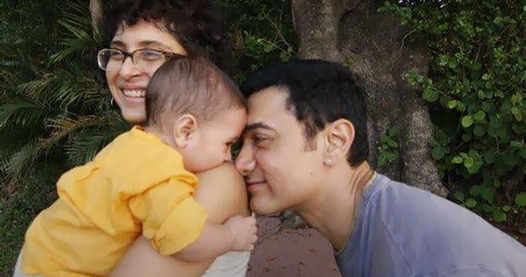 Doting father Aamir Khan's candid moments with son Azad will make your day