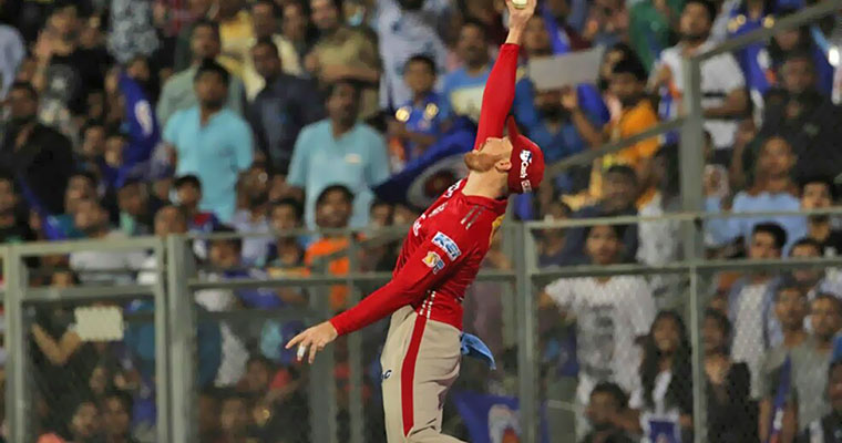Watch Guptill's freakish catch that turned the game in KXIP's favour (video)