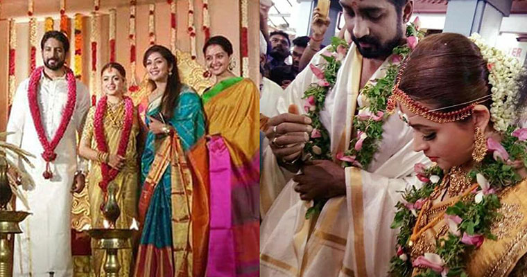 Malayalam actress Bhavana gets hitched to fiancee Naveen; pictures go viral